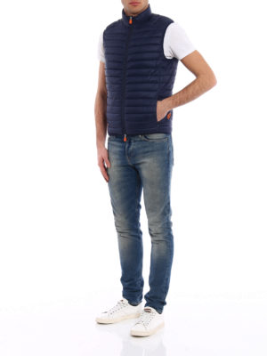 Save the Duck: padded jackets online - Water resistant blue padded vest