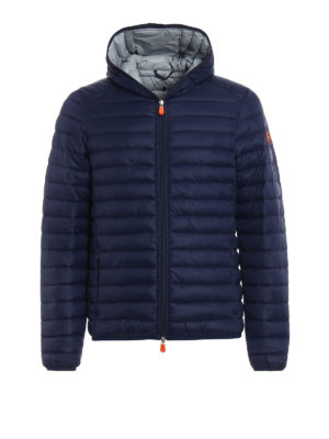 Save the Duck: padded jackets - Pocketable blue grey puffer jacket