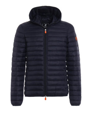 Save the Duck: padded jackets - Pocketable dark blue puffer jacket