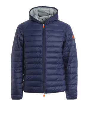 Save the Duck: padded jackets - Pocketable hooded padded jacket