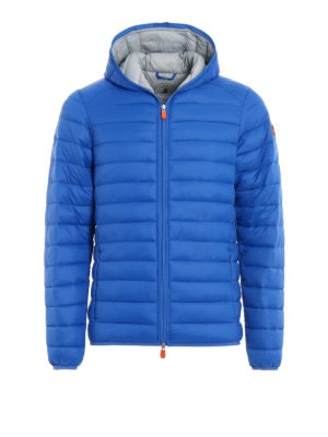 Save the Duck: padded jackets - Pocketable hooded puffer jacket