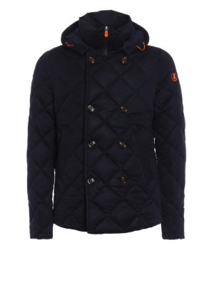 Save the Duck: padded jackets - Quilted techno fabric peacoat