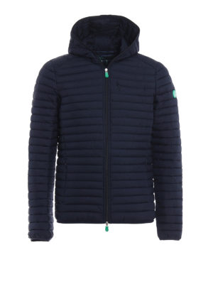 Save the Duck: padded jackets - Recycle line dark blue jacket