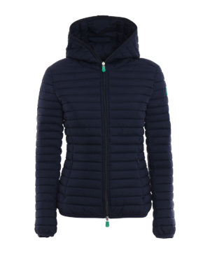 Save the Duck: padded jackets - Recycled dark blue puffer jacket