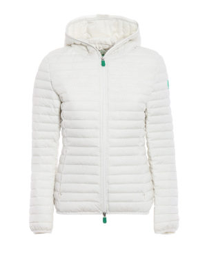 Save the Duck: padded jackets - Recycled off white puffer jacket