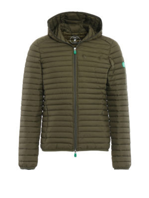 Save the Duck: padded jackets - Recycled sage green puffer jacket
