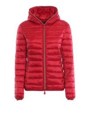 Save The Duck: giacche imbottite - Piumino leggero rosso con cappuccio