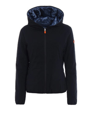 Save the Duck: padded jackets - Reversible nylon hooded jacket