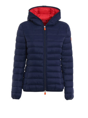 Save the Duck: padded jackets - Ultralight dark blue jacket