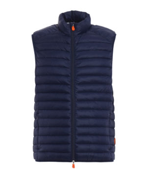 Save the Duck: padded jackets - Water resistant blue padded vest