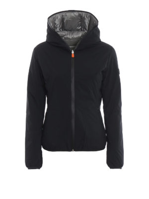 Save The Duck: giacche imbottite - Piumino reversibile impermeabile nero grigio