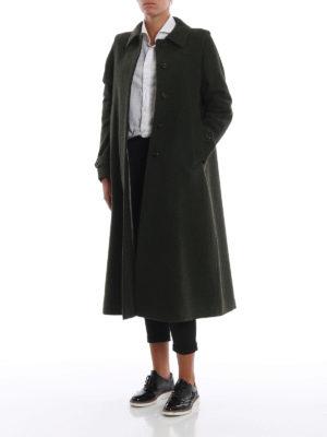 SCHNEIDERS: cappotti lunghi online - Cappotto Adamaris in loden verdone