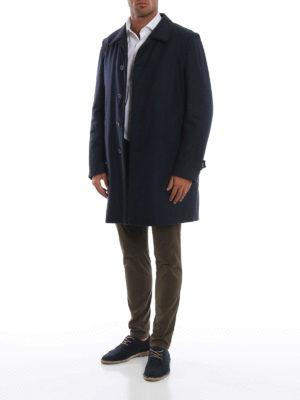 SCHNEIDERS: cappotti corti online - Cappotto loden classico blu grigio