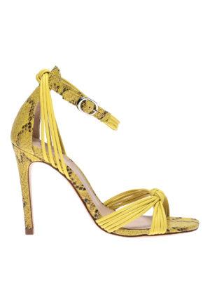 SCHUTZ: sandals - Zamora snake printed leather sandals