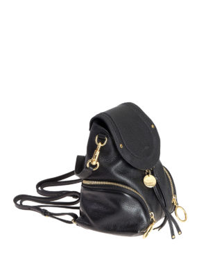 See by Chloé: backpacks online - Polly black leather small backpack