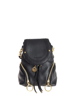 See by Chloé: backpacks - Polly black leather small backpack