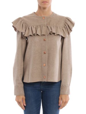 See by Chloé: casual jackets online - Ruched wool cloth jacket