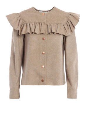 See by Chloé: casual jackets - Ruched wool cloth jacket