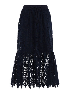 See by Chloé: Knee length skirts & Midi - Lace midi skirt