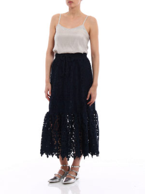 See by Chloé: Knee length skirts & Midi online - Lace midi skirt