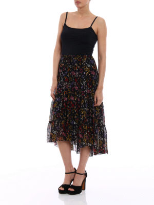 See by Chloé: Knee length skirts & Midi online - Silk chiffon patterned skirt