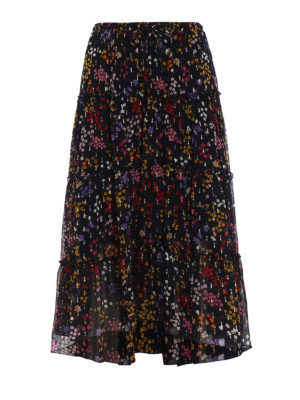 See by Chloé: Knee length skirts & Midi - Silk chiffon patterned skirt