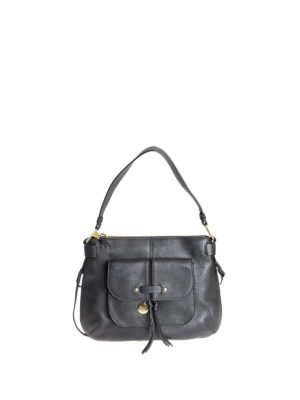 See by Chloé: shoulder bags - Olga black grained leather bag
