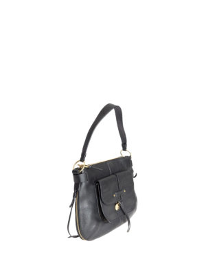See by Chloé: shoulder bags online - Olga black grained leather bag