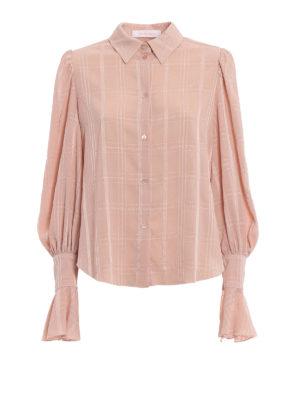 SEE BY CHLOE': camicie - Camicia in tecno seta goffrata e maxi polsi