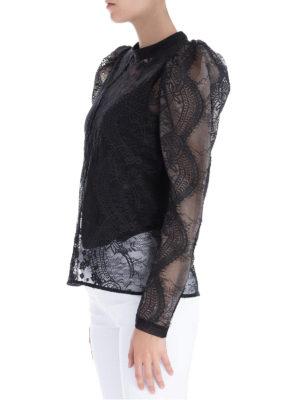 Self Portrait: bluse online - Top in pizzo con maniche lunghe a palloncino