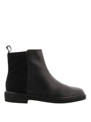 Sergio Rossi: ankle boots - Leather slip on ankle boots