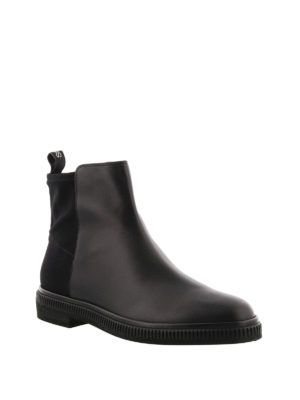 Sergio Rossi: ankle boots online - Leather slip on ankle boots