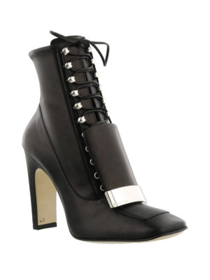 Sergio Rossi: ankle boots online - Sr1 black stretch nappa ankle boots