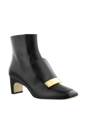 Sergio Rossi: ankle boots online - Sr1 logo plaque nappa ankle boots