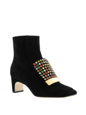 Sergio Rossi: ankle boots online - Sr1 multicolour studded ankle boots