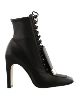 Sergio Rossi: ankle boots - Sr1 black stretch nappa ankle boots