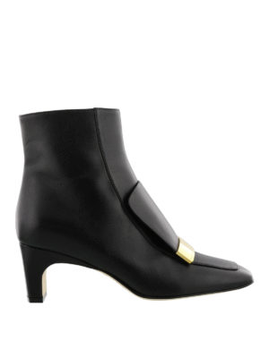 Sergio Rossi: ankle boots - Sr1 logo plaque nappa ankle boots