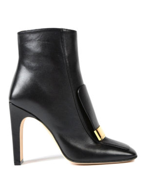 Sergio Rossi: ankle boots - Sr1 nappa ankle boots with plaque