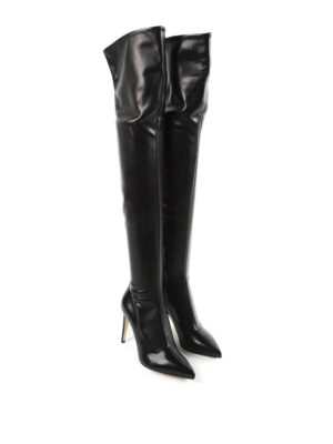Sergio Rossi: boots online - Matrix Stretch leather boots