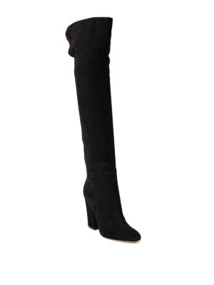 Sergio Rossi: boots online - Virginia over-the-knee suede boots