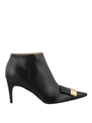 SERGIO ROSSI: scarpe décolleté - Stivaletti con logo dorato