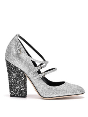 Sergio Rossi: court shoes - Betty glittered Mary Jane shoes