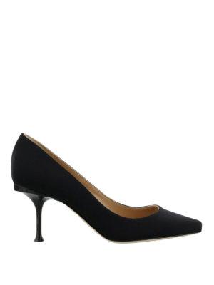 SERGIO ROSSI: scarpe décolleté - Décolleté con logo metallico