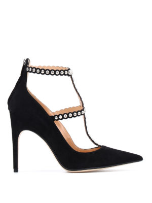Sergio Rossi: court shoes - Dafne suede T-bar pumps
