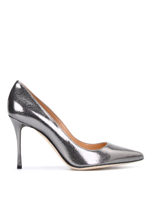 Sergio Rossi: court shoes - Godiva crackle leather pumps