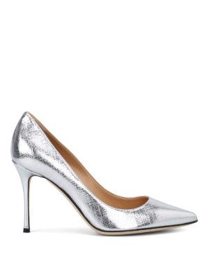 SERGIO ROSSI  scarpe décolleté - Décolleté Godiva in saffiano lamé cb4c3a70906