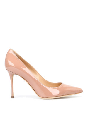 Sergio Rossi: court shoes - Godiva nude patent pumps
