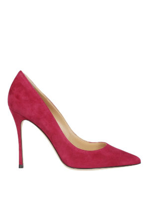 SERGIO ROSSI: scarpe décolleté - Décolleté Godiva in pelle scamosciata