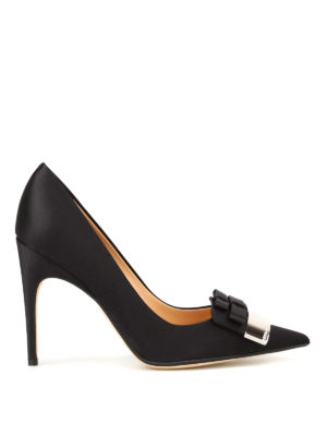 Sergio Rossi: court shoes - Logo plaque satin pumps