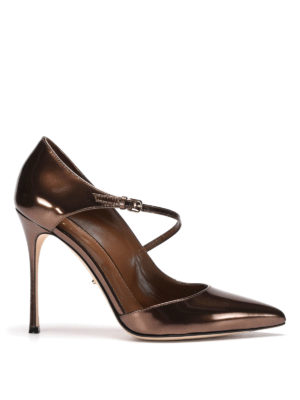 Sergio Rossi: court shoes - Malgosia mirror leather pumps